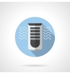 Evaporative air cooler round flat icon vector