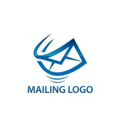 express air mail logo vector image