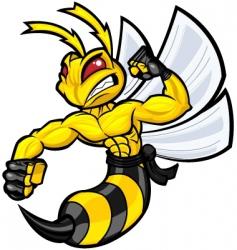 fighting hornet vector image