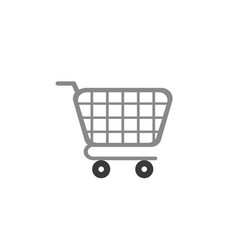 flat design style shopping cart icon on white vector image
