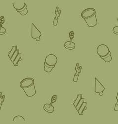 garden outline isometric pattern vector image