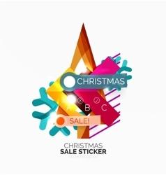 Geometric Christmas Sale Stickers vector