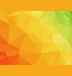 geometric orange green texture background vector image