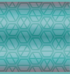 geometric seamless repeating pattern with hexagon vector image