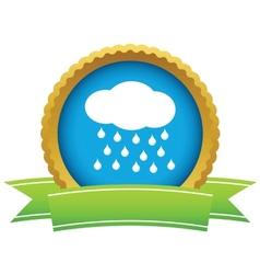Gold rain logo vector image