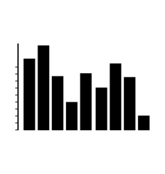 graph chart icon image vector image
