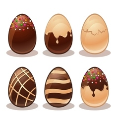 Happy Easter-Ferrous and White Chocolate eggs vector