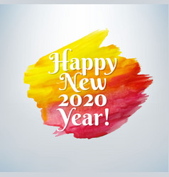 happy new year card with paint vector image
