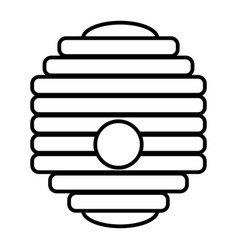 hive thin line icon beehive vector image