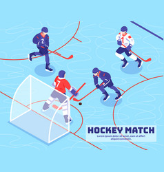 hockey match isometric vector image