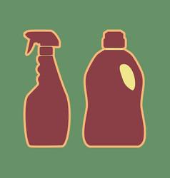 Household chemical bottles sign cordovan vector