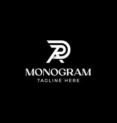 initial letter ra ar r a monogram logo template vector image