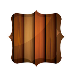 Isolated wood frame design vector