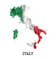 Italy flag watercolor painting design country vector