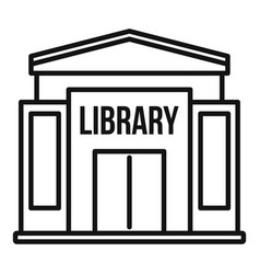 Library building icon outline style vector