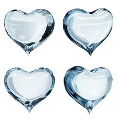 Light blue hearts vector