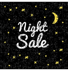 night sale on a black background with texture vector image