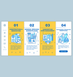 On demand construction onboarding mobile web vector
