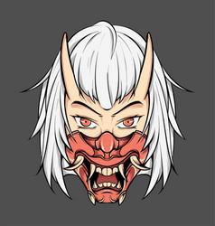 Oni mask vector