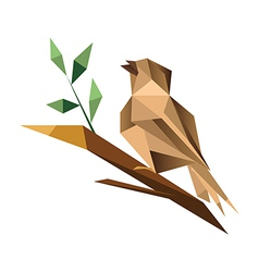 Origami sparrrow vector image