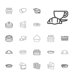 Pastry icons vector