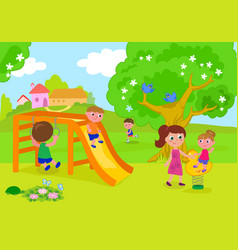people having fun in park vector image
