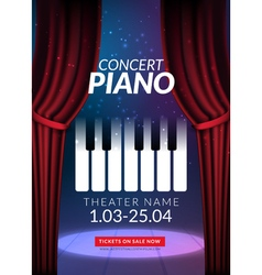 Piano music concert background Musical poster vector
