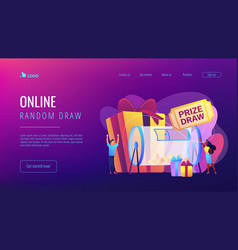 prize draw concept landing page vector image