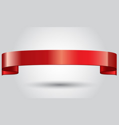 realistic red glossy shining ribbon vector image