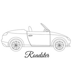 Roadster car body type outline vector