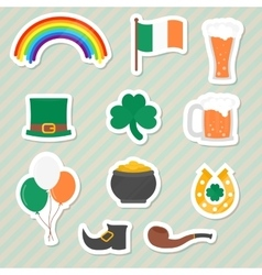 Saint patricks day stickers vector