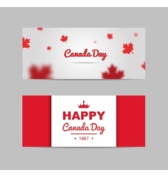 Set of design elements for Canada Day 1st of July vector