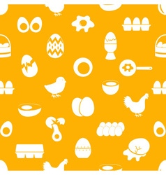 set of egg theme icons seamless pattern eps10 vector image