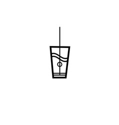 sign of a glass of water vector image
