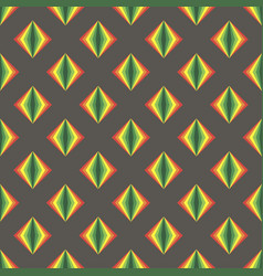 simple gray pattern background with rainbow rombs vector image