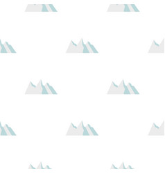 Snowy mountains pattern seamless vector