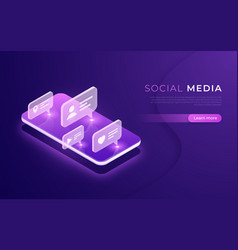 social media communication networking chatting vector image