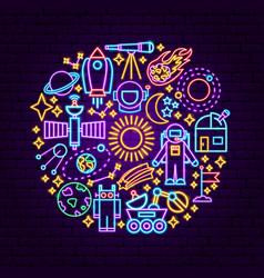 Space neon concept vector
