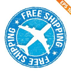 Stamp sticker Free shipping collection vector image