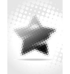 star halftone art vector image