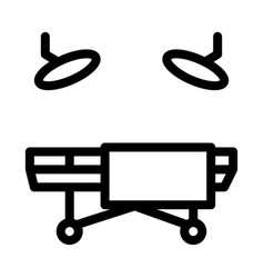 Surgical table icon outline vector