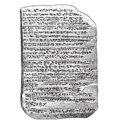 The amarna tablet or series of clay tablets vector