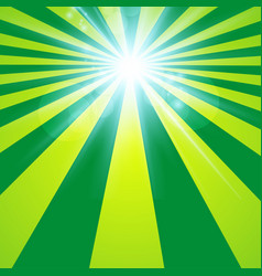 the sun radiation retro green background vintage vector image