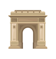 triumphal arch in bucharest romania historic vector image
