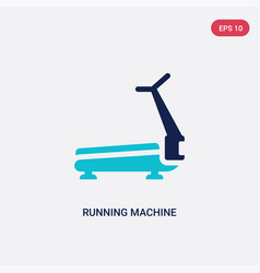 Two color running machine icon from gym and vector