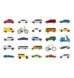 Urban auto flat icons vector