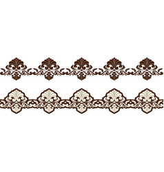 vintage ornament seamless border vector image