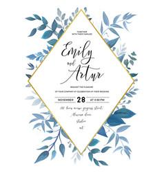 Wedding invite save the date card design vector