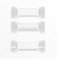 White polyethylene foil package for chocolate bar vector