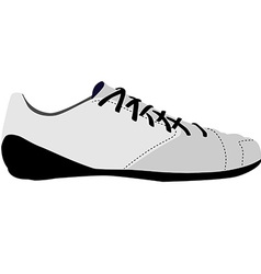 White sport shoe vector image